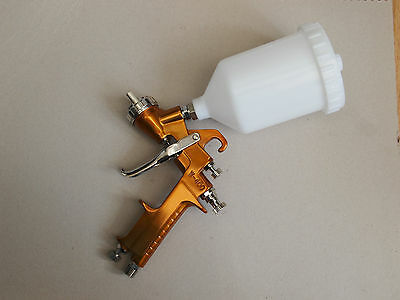 UK Seller 1.8mm Professional Gold Gravity Feed Paint Spray Gun W400
