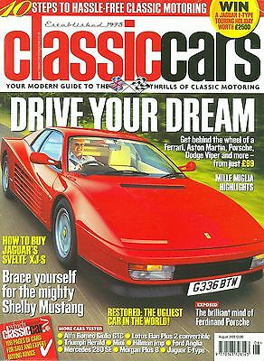CLASSIC CARS magazine 8/05 feat. Bentley 4½-litre, Aurora, Mustang GT350R, Mini