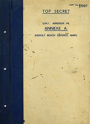 Ww2 Operation Neptune Top Secret Intelligence, D Day Map Defences, Overlord,