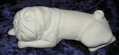 Ceramic Bisque Ready to Paint Pug Dog