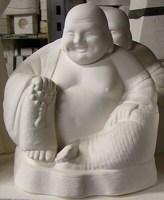 Ready to Paint Ceramic Bisque- Large sitting Buddha