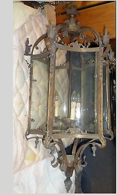 "Antique Chandelier - Ceiling Pendant Gothic Castle 50"" x 28"" - delivery area"