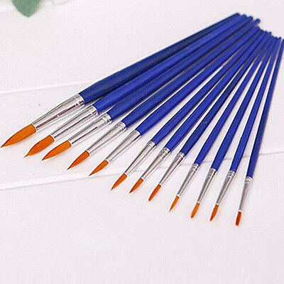 12x Round Pointed Tip Nylon Hair Brush Artist Water Color Painting Pens Engaging