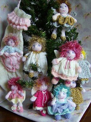 Little Angels - Christmas Tree Decorations/Trims Easy Soft Toy Knitting Pattern