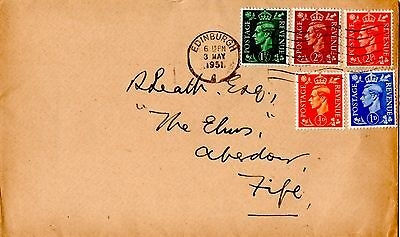Gb 1951 Kgv1 First Day Cover 3 May Plain With Edinburgh Postmark