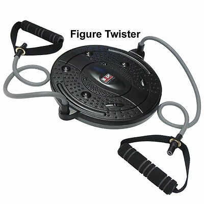 Figure Twister Body Sculpture Exercise Ab Abdominal Trainer Toner + Bungee Cords