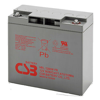 CSB HRL1280W High Rate Discharge Lead Acid Battery For Jump Starter 12V 80W