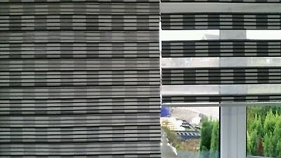 Day and Night pleated roller Blind 120cm Black/grey - each