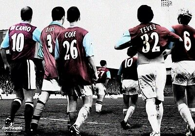 West Ham United 'Legends' Wall Canvas A3