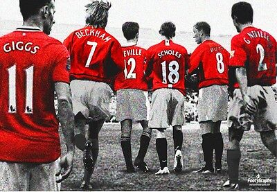 Manchester United 'Class Of 92' Wall Canvas A3
