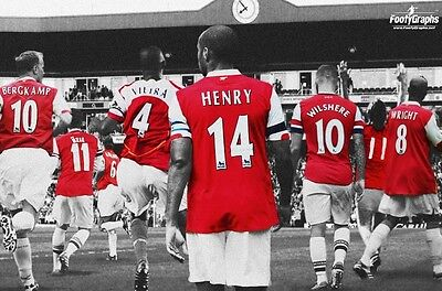 Arsenal FC 'Legends' Wall Canvas A3