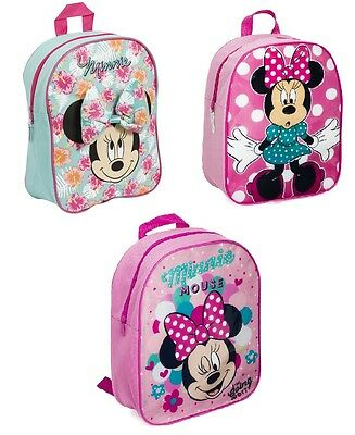 OFFICIAL DISNEY MINNIE MOUSE Girls School Backpack Travel Bag Rucksack Nursery