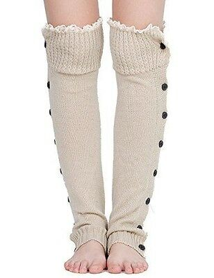 Dimore Plus Size Button Leg Warmers Boot Cuffs for Boots Knit Leg Warmers with L