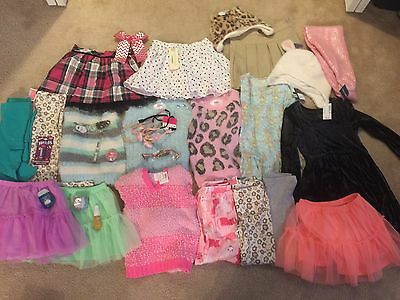 GIRLS TRENDY DESIGNER WINTER CLOTHING LOT 32 Items Size 5 Justice & Others