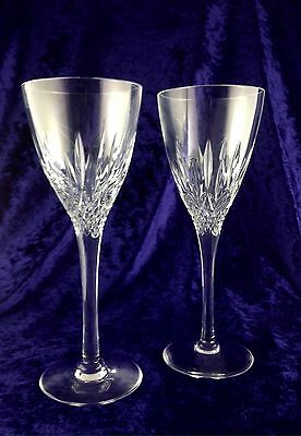 Stuart Crystal ~ Madison ~ Two Large Wine Glasses  19 c.m.