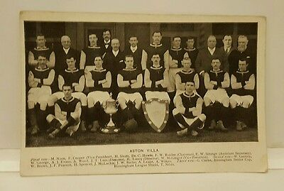 Early Aston Villa Football Team Players Vintage Postcard Rare McGregors Vision