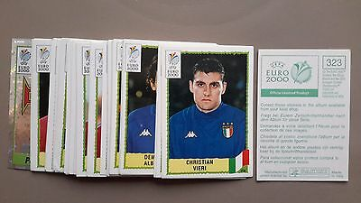 panini euro 2000 lot vignettes stickers images foot football