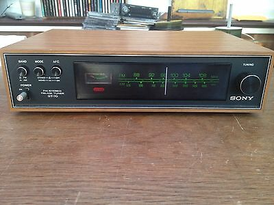 Sony ST-70 Classic Vintage FM Stereo AM/FM Radio Tuner Near Mint Condition