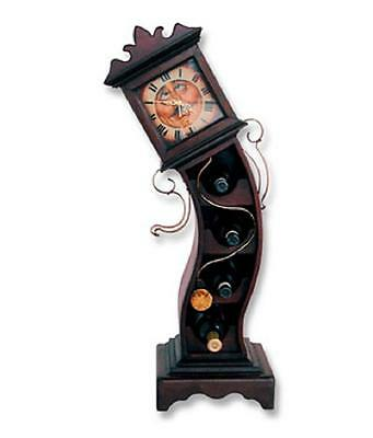 Drunken Grandfather Clock with Wine Rack Gamesroom bar Home decor retro Statue • AUD 245.00