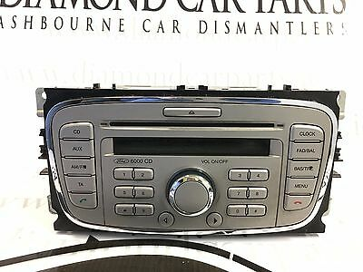 2008 Ford Mondeo Radio Cd Player 6000 Cd 7C7T-18C815-Ba