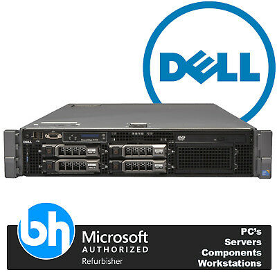 R710 PowerEdge Dell 2x Quad Core E5506 Xeon 48GB DDR3 RAM H200 Rack Server 2U