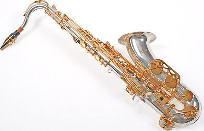 Sassofono Sax Tenore Karl Glaser Germany Placcato Argento Ottone Top Quality