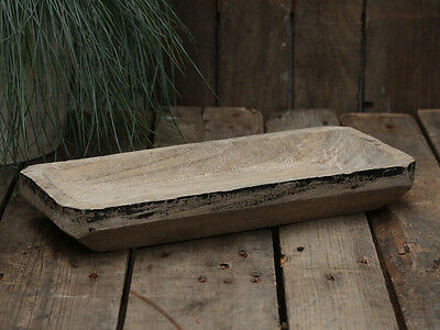 Vintage French Style Wooden Tray, Bowl, Rustic, Natural  Handmade Paulownia Wood