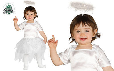 Baby Girl & Toddler ANGEL FAIRY Xmas Christmas Nativity Fancy Dress Costume