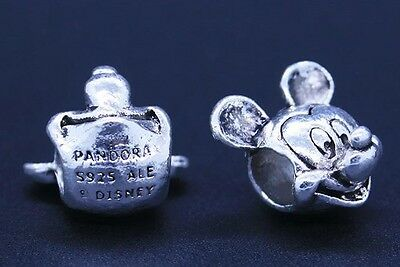 Mickey Mouse 925 Plated Charm Bead for European Charms Bracelet Snake Chain