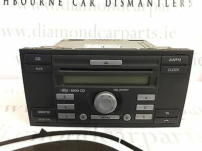 2007 Ford Fiesta Radio Cd Player 6000 Cd 6S61-18C815-Ag