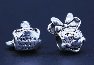 Minnie Mouse 925 Plated Charm Bead for European Charms Bracelet Snake Chain