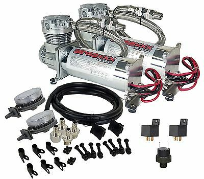 Chrome 480 Air Compressors with AirMaxxx Air Intake Filter Relocator 180psi Kit