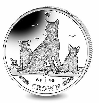 2016 Isle of Man Havana Brown Cat Coin 1 oz Silver Proof with Box & Coa