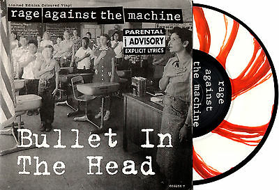 "RAGE AGAINST THE MACHINE bullet in the head / settle for nothing 7"" PICTURE DISC"