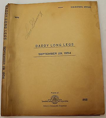 Daddy Long Legs * 1954 Movie Script Screenplay * Fred Astaire * Water stained