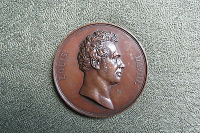 Jacques Louis David -- French C19th Medallion -- Painting / Art Interest
