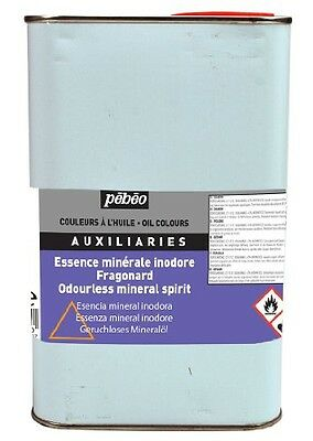 Pebeo 1 Litre Rectified Turpentine, Transparent