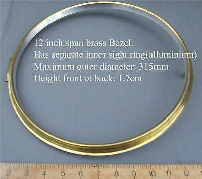 New 12inch Standard spun brass clock bezel for american dial  fusee dial clock