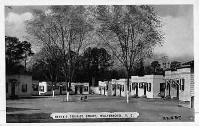 Walterboro South Carolina Berrys Tourist Court Antique Postcard K46956