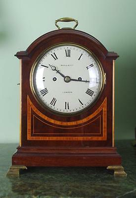 SMALL BRACKET CLOCK DOUBLE FUSEE MAHOGANY - Superb quality