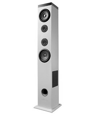 Altavoz Bluetooth Torre Energy Tower 5 60W Panel Tactil Color Blanco Usb Sd Fm