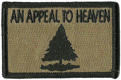 "Gadsden and Culpeper, Appeal To Heaven Tactical Patch - 2"" x 3"" - Coyote"