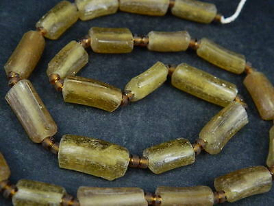 Ancient Fragment Glass Beads Strand Roman 200 BC    #BE1435