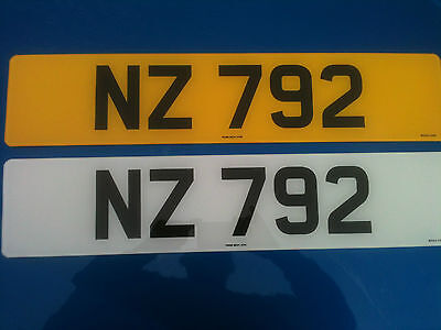 Nz 792 Cherished Number, Registration Plate,  Private Number New Zealand