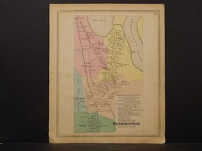Connecticut Hartford County Map 1869, Wethersfield !O4#57