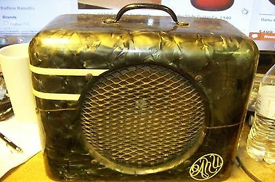 vTg 1940s oahu amp green pearloid