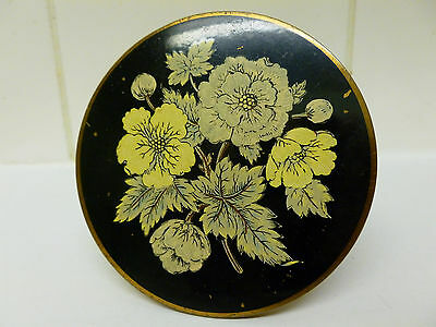 Vintage Mascot ASB Powder Compact Floral