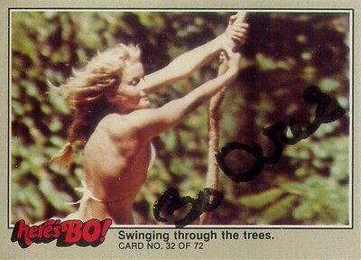 Bo Derek~Hand Signed/autographed, Here'S Bo! Trading Card #32~Tarzan Of The Apes