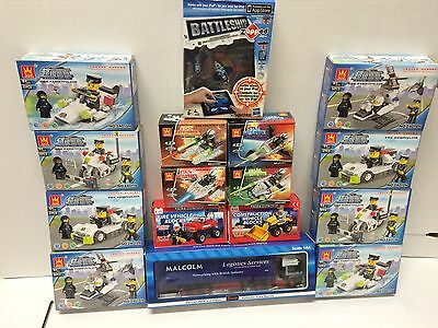 Job Lot wholesale  small Building Block Toys / Toy Lorry  X 16  New Ideal Gifts