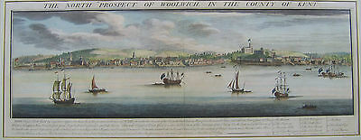 Woolwich: panoramic engraving by N & S Buck, 1739 and later